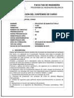 71405-Procesos de Manufactura II