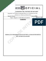 Manual de Convivencia Escolar Para La Educación Básica Del Estado de Nayarit