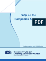 FAQs on the Companies Act 2013 Revised 28-04-14