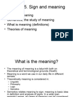 Lecture 5. Sign and Meaning
