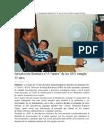 """28-08-14 oaxaca.me Jurisdicción Sanitaria n° 6 """"sierra"""" de los SSO cumple 35 años"""