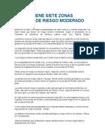 Bolivia Tiene Siete Zonas Sísmicas de Riesgo Moderado