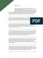 Performance Appraisals' Tips