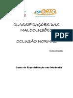 Apostila Classificação Das Maloclusões - Curso Capacitação