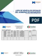 Lista de Vehículos Oficiales del Gobierno de Matamoros.