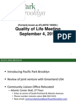 Presentation for 9/4/14 Atlantic Yards/Pacific Park Quality of Life Meeting