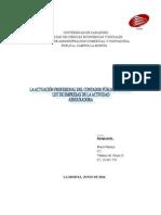 La actuacion del Contador Publico ante la Ley de Seguros (Autoguardado).doc