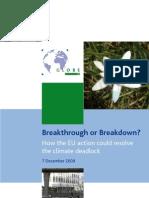 GLOBE EU Breakthrough or Breakdown Dec 2009