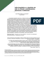 A Demografia Brasileira e o Declinio Da Fecundidade No Brasil