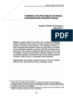 Contracepcao Feminina e Politica Publica No Brasil