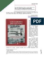 Aramburu (2013) Reseña Del Libro Los Saberes Del Estado (Plotkin & Zimmermann)