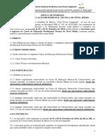 Edital Prova Do Curso Tecnico 2014