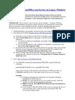 Creating OpenOffice SERVICE on Windows