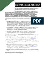 BillC 585 InformationandActionKit Aug2014revised