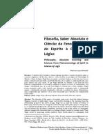 Filosofia, Saber Absoluto e Ciência.pdf