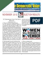 13-1 November 2012 Election Results