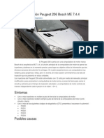 Falla de Inyección Peugeot 206 Bosch ME 7