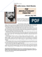 Baraka Amiri - The Revolutionary Theatre