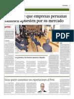 España Pide Que Empresas Peruanas También Apuesten Por Su Mercado_Gestión 3-09-2014