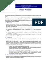Thesis Protocol