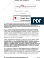 Foreign Military Studies Office Publications - Human Network Attacks