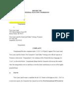 Terri Lynn Land FEC Complaint