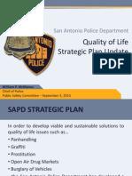 SAPD Strategic Plan Update Public Safety