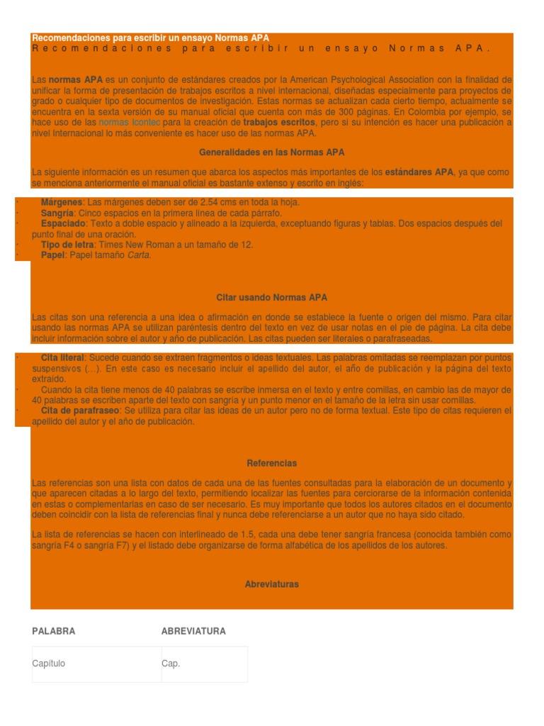 Vistoso Resume El Formato De Lista De Referencias Modelo - Ejemplo ...