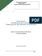 Manual Para La Elaboración Del Boletín Estadistico
