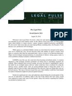 Legal Pulse Second Quarter Newsletter | August 29, 2014
