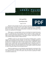 Legal Pulse Second Quarter Newsletter | August 29, 2014