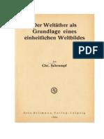 Weltäther Als Grundlage Einheitlichen Weltbildes 1934