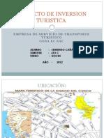 Proyecto de Inversion Turistica Diapositivas