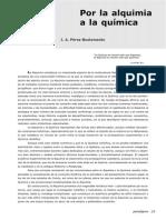 Por La Alquimia a La Quimica Pérez-Bustamante, J.A