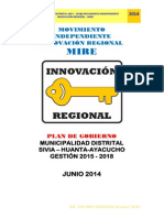 Plan de Gobierno Sivia