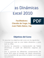 Tablas Dinámicas 2010