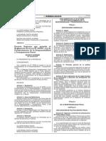 D.S. Nº 104-2014-EF. Regl. Ley Nº 30099 Transp. Fiscal