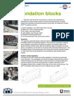 KLP® Foundation blocks