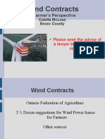 Advice on Wind Leases