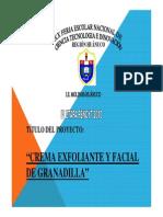 Proyecto Crema Exfoliante y Facial de Granadilla Fencyt_2010_huanucox