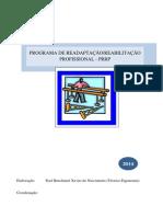 PRRP Programa Readequação Reabilitação Ptofisional