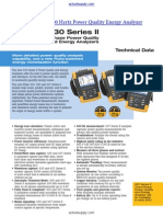 AC Fluke 437 II Power Quality Energy Analyzer User Datasheet
