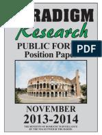 Nov PF Paradigm research