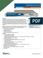 Comtech/EFData CDD880 Data Sheet
