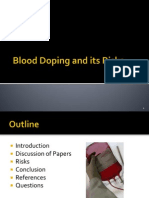 Blood Doping PPT Presentation