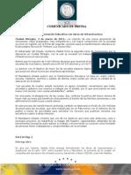 04-03-2011 Guillermo Padrés firmó la segunda carta compromiso para la transformación educativa en cajeme, asimismo, entrego obras de mejoramiento y ampliación de la calle 200, entre Eusebio Kino y meridiano. B031110