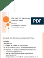 PPT_Calidad Del Profesor Universitario. Dr. Morcillo
