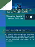 Origen y La Evolucion de La Constitucion