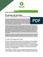 El reinado de las élites. Riqueza y Desigualdad en Latinoamérica y el Caribe. Oxfam.pdf