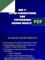 BAB 7 SistemPemerintanMalaysia